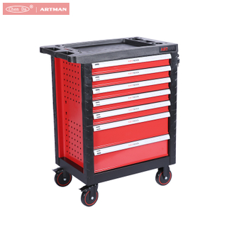 CD-3070 new design professional steel tool cabinet / tool trolley with 7 drawers